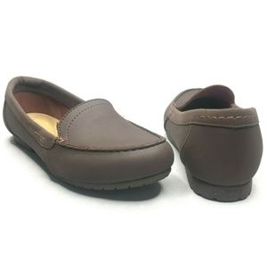 Crocs Womens Brown Loafer Flats Padded Insole